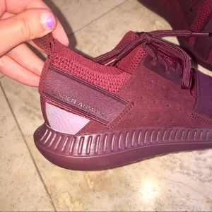 Red/Maroon Under Armour Sneakers